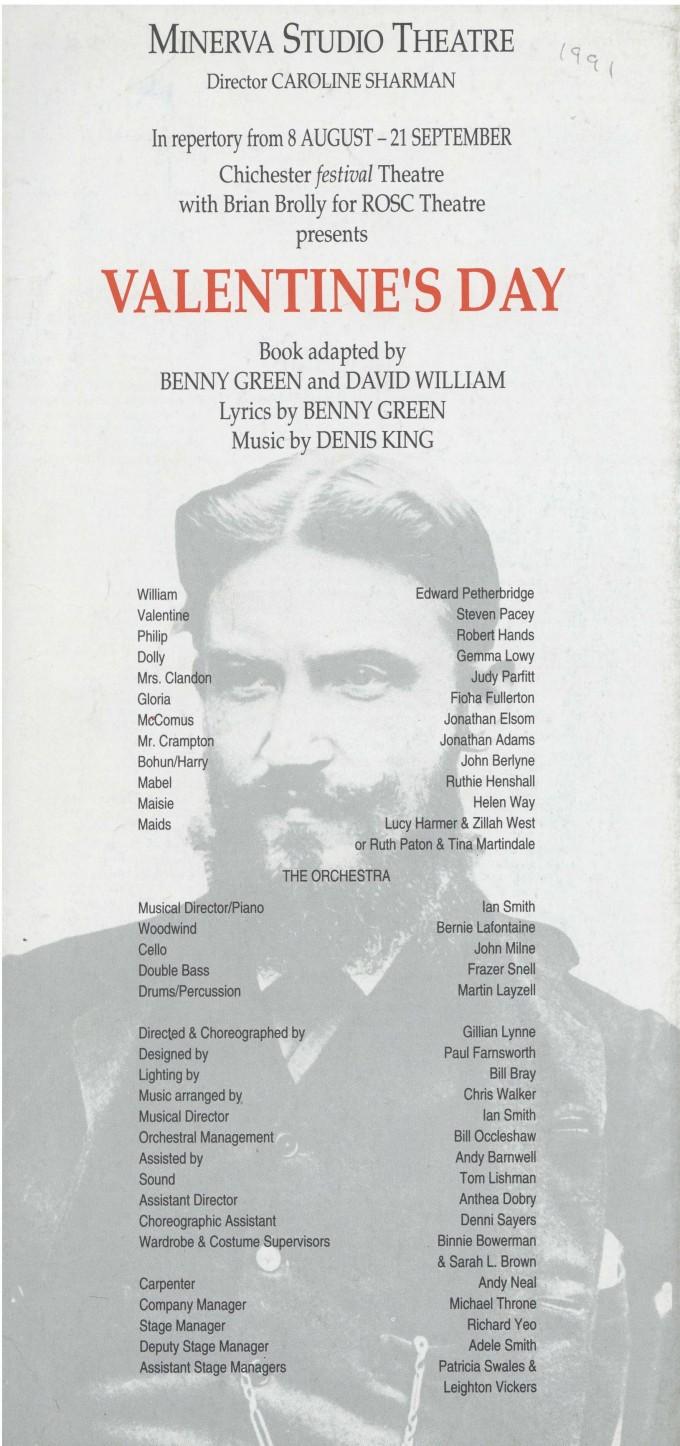 Cast list - Valentine's Day - 1991