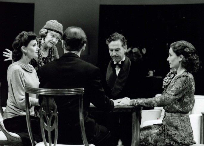 Production Photograph - Blithe Spirit - Dora Bryan, Belinda Lang, Steven Pacey, Lawrence Kennedy, Charmian Gradwell -  Photographer John Timbers -1997 - H25xW20cm