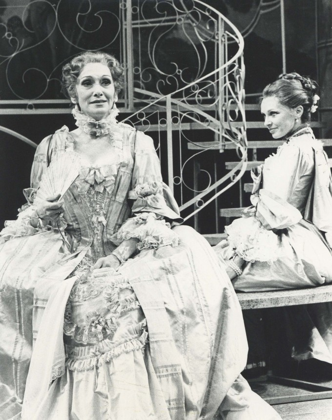 Production Photograph - The Inconstant Couple - Sian Phillips, Morag Hood - Photographer Sophie Baker - 1978