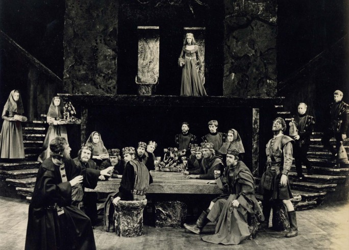 Production photograph - Macbeth - John Clements, Tom Courtenay, John Standing - Photographer Zoë Dominic -  1966 - H20xW25cm 1 of 2