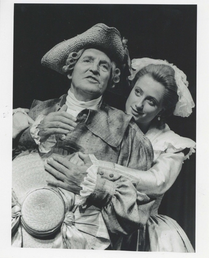 Production photograph - She Stoops to Conquer - Denis Quilley, Susannah Harker - Photographer John Haynes - 1992 - H25xW20cm 1 of 2