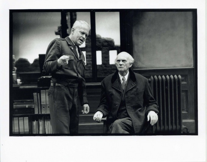 Production photograph -Taking Sides - Daniel Massey, Michael Pennington, Photographer - Ivan Kyncl - 1995 - H20xW25cm 1 of 2