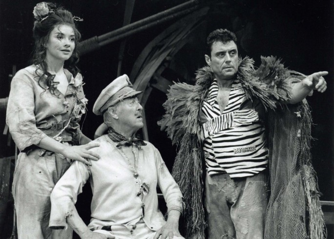 Production photograph -The Admirable Crichton - Victoria Scarborough, Michael Denison, Ian mcShane - Photographer - John Timbers - 1997 - H25xW20cm 1 of 2