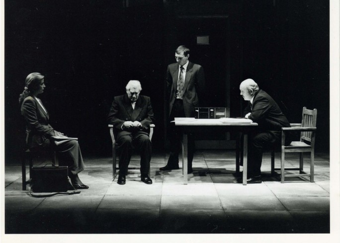 Production photograph -The Handyman - Francesca Hunt, Frank Finlay, David Garvey, Nick Stringer - 1996 - photographer unknown - H25xW20cm - 1 of 2