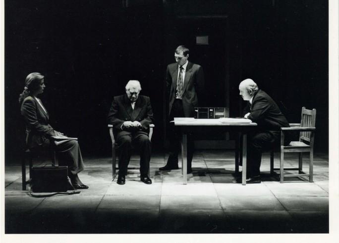 Production photograph -The Handyman - Francesca Hunt, Frank Finlay, David Garvey, Nick Stringer - 1996 - photographer unknown - H25xW20cm - 1 of 2