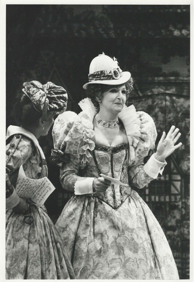 Production photograph - The Merry Wives of Windsor - Photographer John Haynes - 1990 - H30cmxW21cm