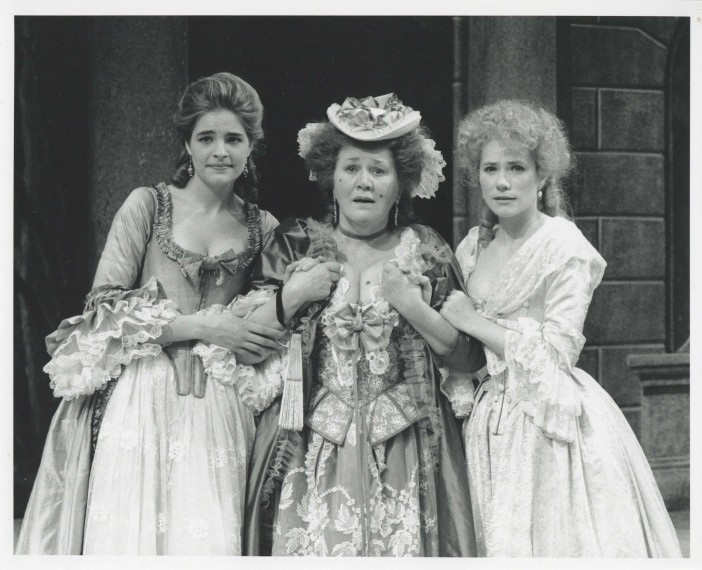 Production photograph - The Rivals - Emily Raymond, Patricia Routledge, Abigail Cruttenden - Photographer John Timbers - 1994 - H20xW25cm - 1 of 2