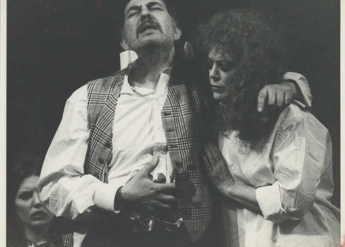 Production photograph - Tonight We Improvise  - Alfred Marks, Annie Ross - Photographer John Timbers - 1974 H20.5 x W25.5 1 of 2