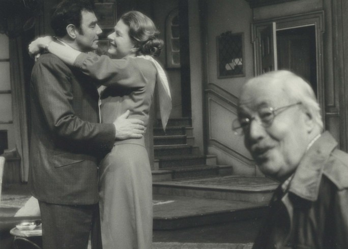 Production photograph - Waters of the Moon - Paul Hardwick, Ingrid Bergman, Charles Lloyd Pack - Photographer Zoë Dominic - 1977 H19.5 x W24.5 1 of 2