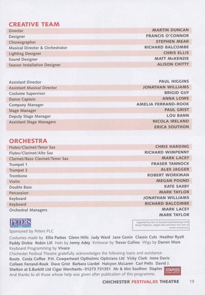 Programme - How to Succeed... - 2005 - 19 of 42