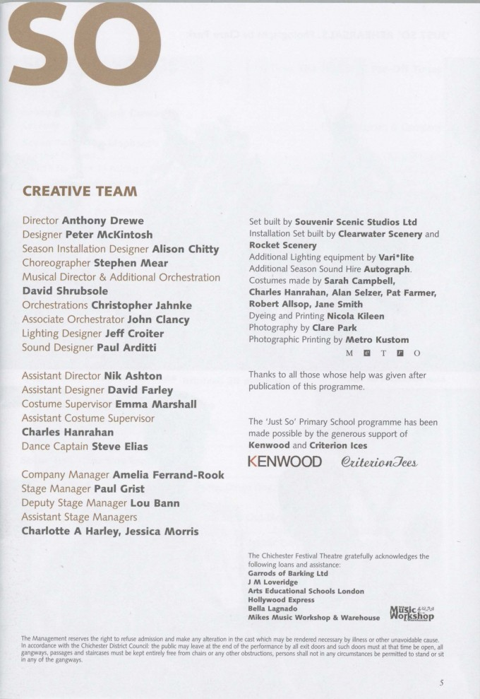 Programme - Just So - 2004 - 7 of 44