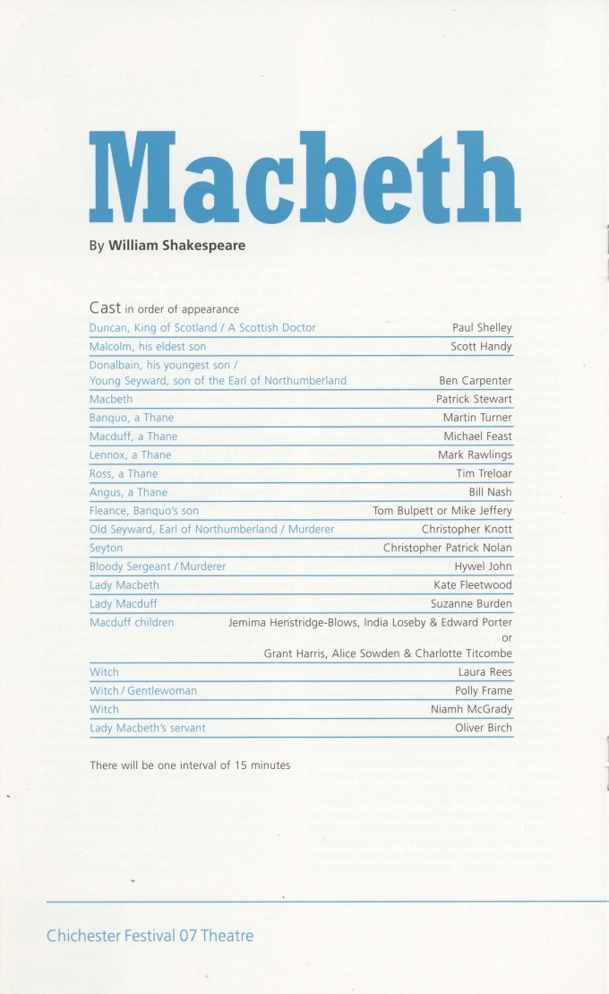 Programme - Macbeth - 2007 - 22 of 44