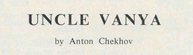 Programme - Uncle Vanya - 1962 - 3 of 8