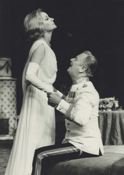 Production Photograph - Reunion in Vienna - Margaret Leighton, Nigel Patrick - Photographer John Timbers - 1971 - H24.5cm W17.5cm 1 of 2