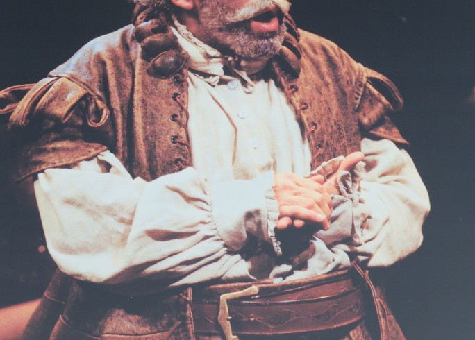 Production photograph - Chimes at Midnight - Simon Callow - Photographer Clive Barda - 1998 - Mounted on board