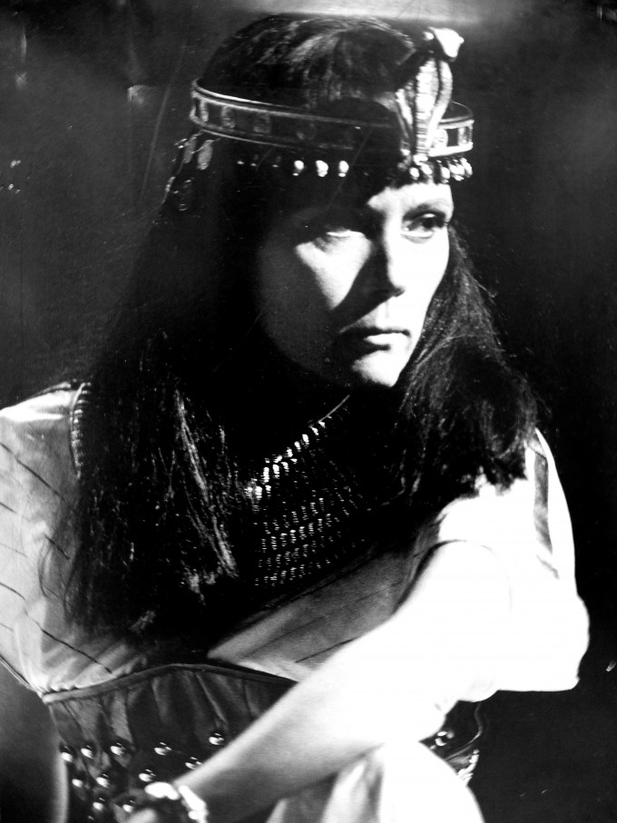Production photograph - Antony and Cleopatra - Diana Rigg - Photographer Reg Wilson - 1985 - Mounted on board