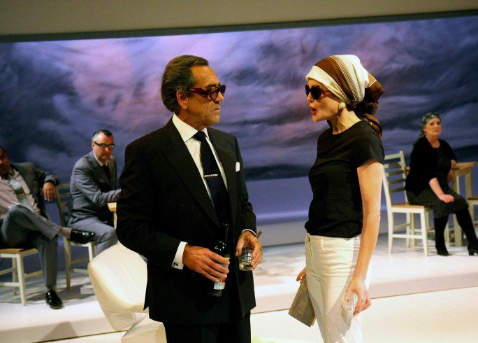 Production photograph - Aristo - Robert Lindsay, Elizabeth McGovern - photographer John Haynes - 2008