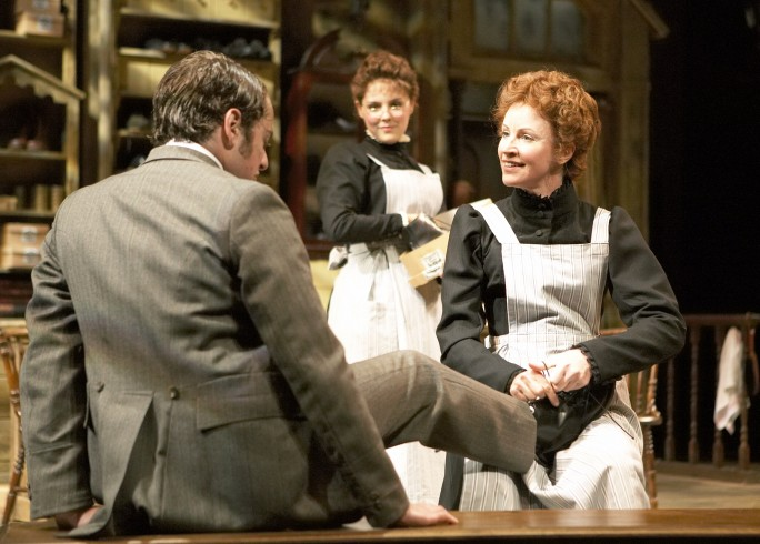 Production photograph - Hobson's Choice - Alex Waldman, Annabel Scholey, Carolyn Backhouse- photographer Manuel Harlan - 2007