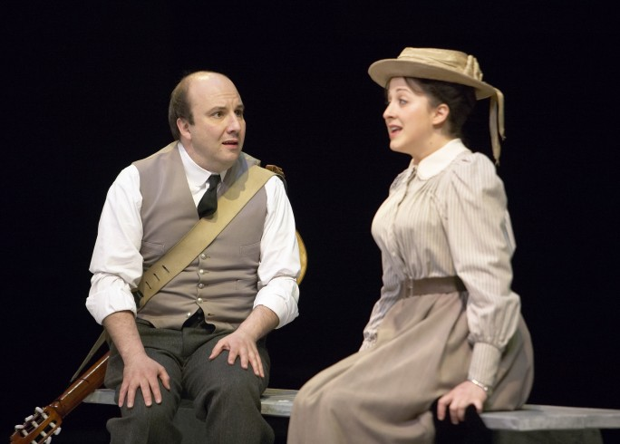 Production photograph - The Cherry Orchard - Paul Chahidi, Natalie Cassidy - photographer Manuel Harlan - 2008