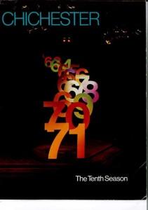 1971 Chichester Festival Theatre programme cover