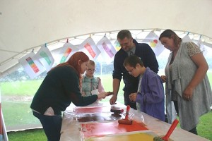 printmaking in the park