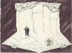 Set design for Terra Nova, 1980 posted with kind permission of Pamela Howard