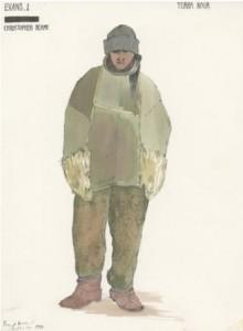 Image 4: Costume design for Evans in Terra Nova reproduced with kind permission of Pamela Howard