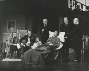 1972 The Doctors Dilemma Brian Poyser, Michael Aldridge, Joan Plowright, John Clements, Robin Phillips, John Neville, William Mervyn (photography by John Timbers)