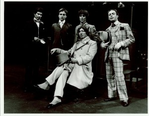 'Feasting with Panthers' (1981)  Jeremy Anthony, Stephen Bone, Johnathon Morris, Tom Baker, Gary Fairhall. Photo: Reg Wilson