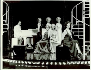 'The Mitford Girls' (1981) L-R: John Owen Edwards, Patricia Hodge, Gay Soper, Patricia Mitchel, Julia Sutton, Colette Gleeson, Liz Robertson. Photo: Patrick Lichfield