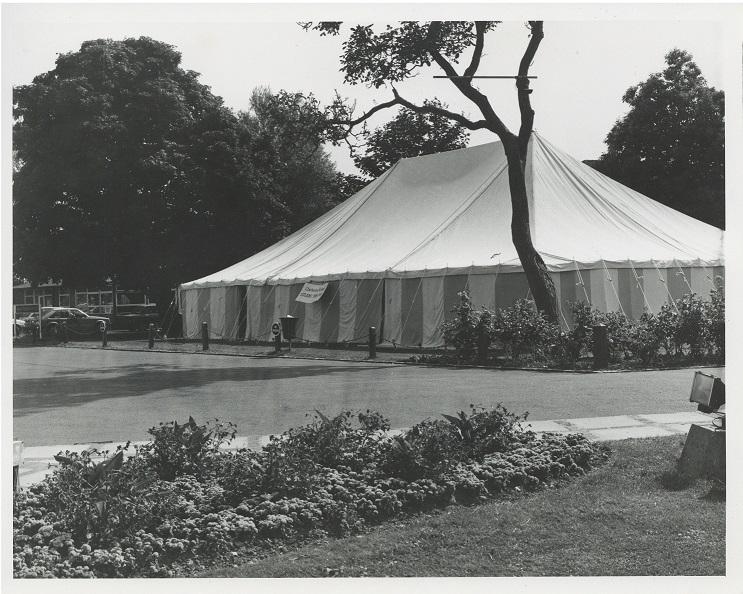 The Tent Studio space at Chichester Festival Theatre