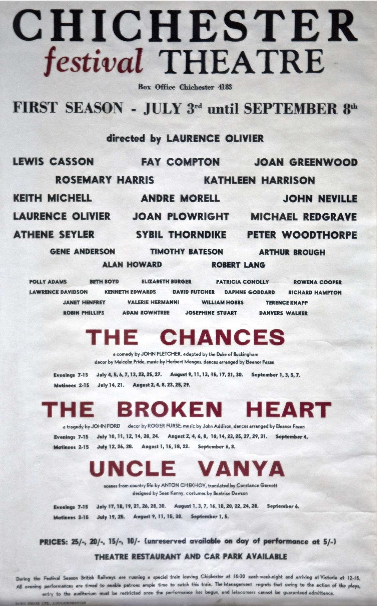 CFT 1962 Season Poster