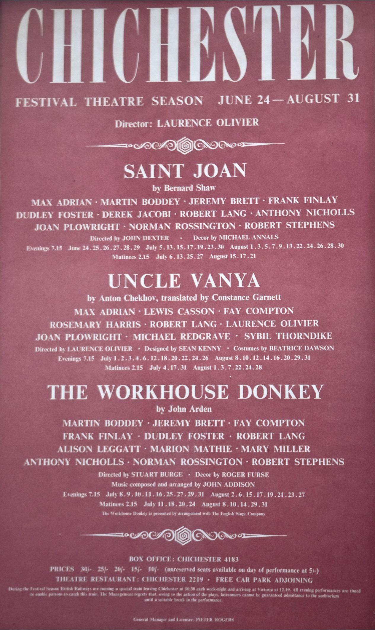 CFT 1963 Season Poster