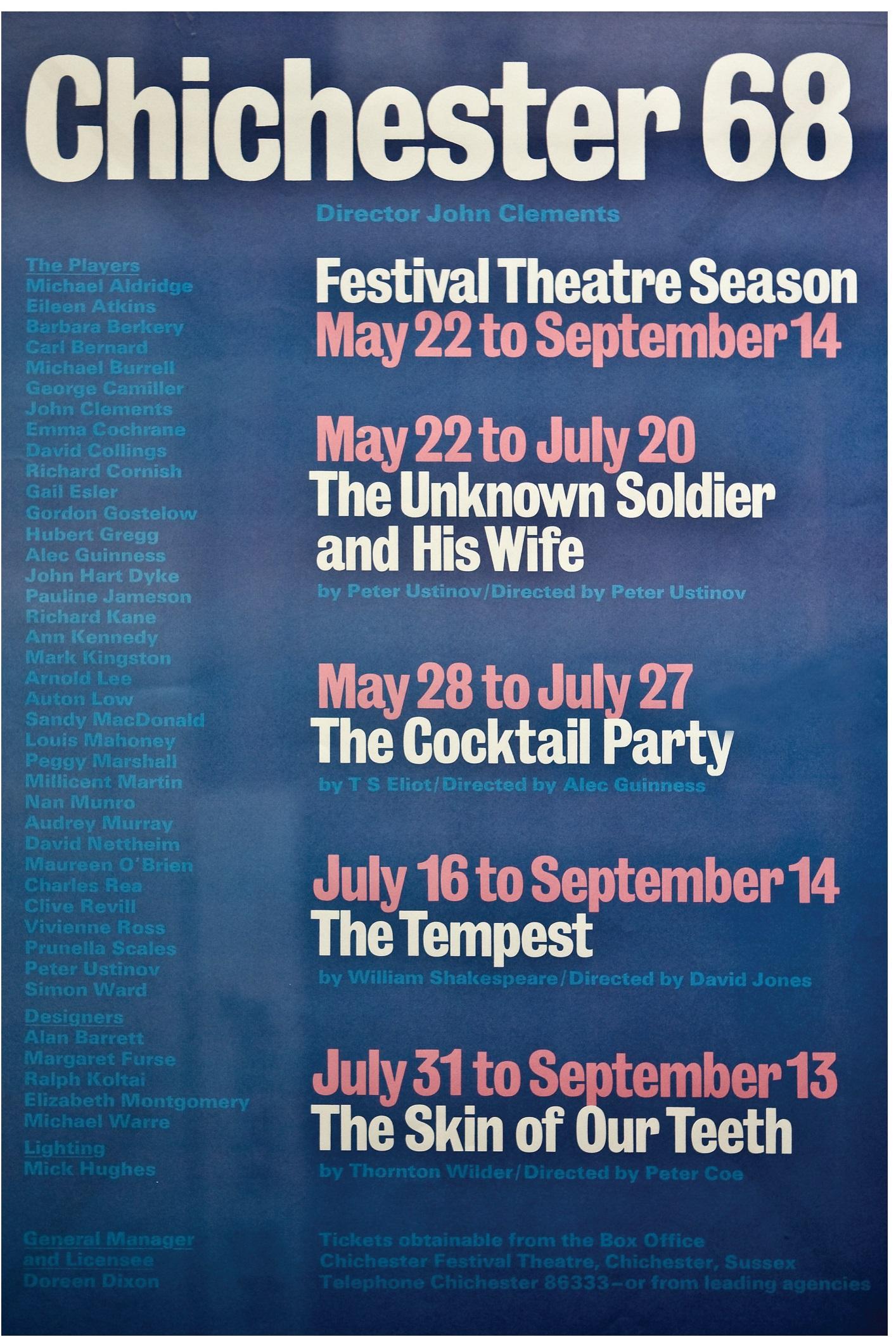 CFT 1968 Season Poster