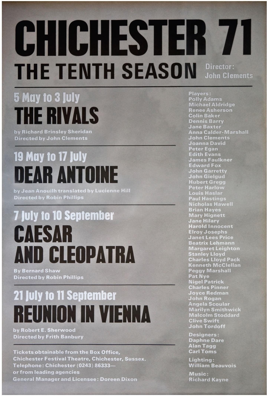 CFT 1971 Season Poster