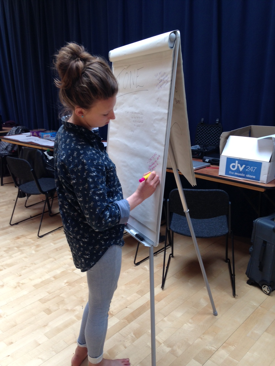 Radio Plays workshop member writing notes 02 May 2015