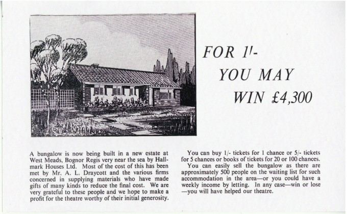 Advert Bungalow raffle - Alan Draycott - Date unknown - Memorabilia Collection