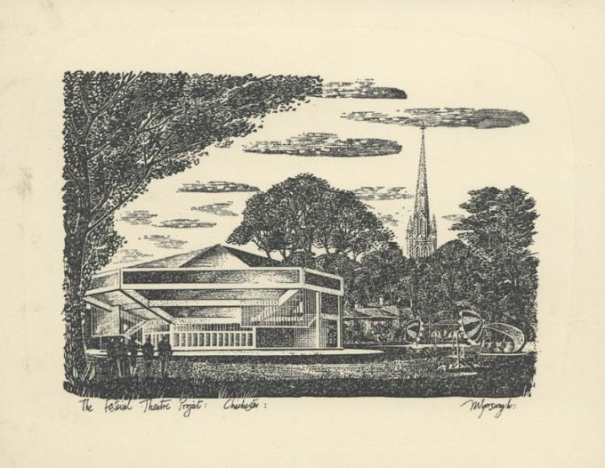 Artist Impression sent as Christmas Card - Leslie Evershed-Martin - Date unknown - LEM Scrapbook Collection