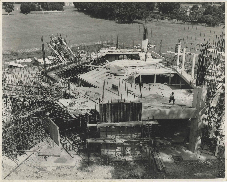 Photograph Construction Aerial Exterior Festival Theatre - Photographer unknown - 1960s - Box 71 CFT WSRO