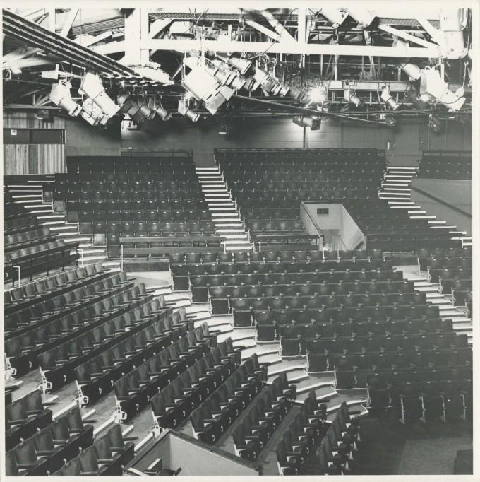 Photograph Interior Auditorium - Photographer unknown - Date unknown - Box 71 CFT WSRO - H20xW20cm