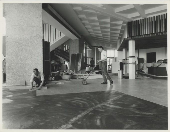 Photograph Interior Foyer Floor construction - Photographer uknown - Date unknown - Box 71 CFT WSRO - H21xW16cm