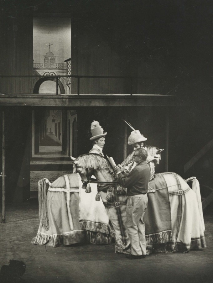 Photograph The Chances rehearsal - Laurence Olivier, John Neville, Keith Michell - 1962 - CFT WSRO