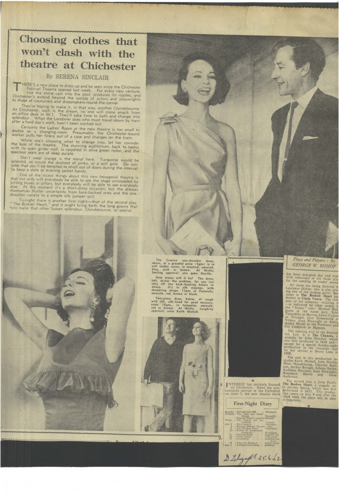 Press cutting Choosing Clothes - Publication unknown - 1962 - LEM Scrapbook Collection low res