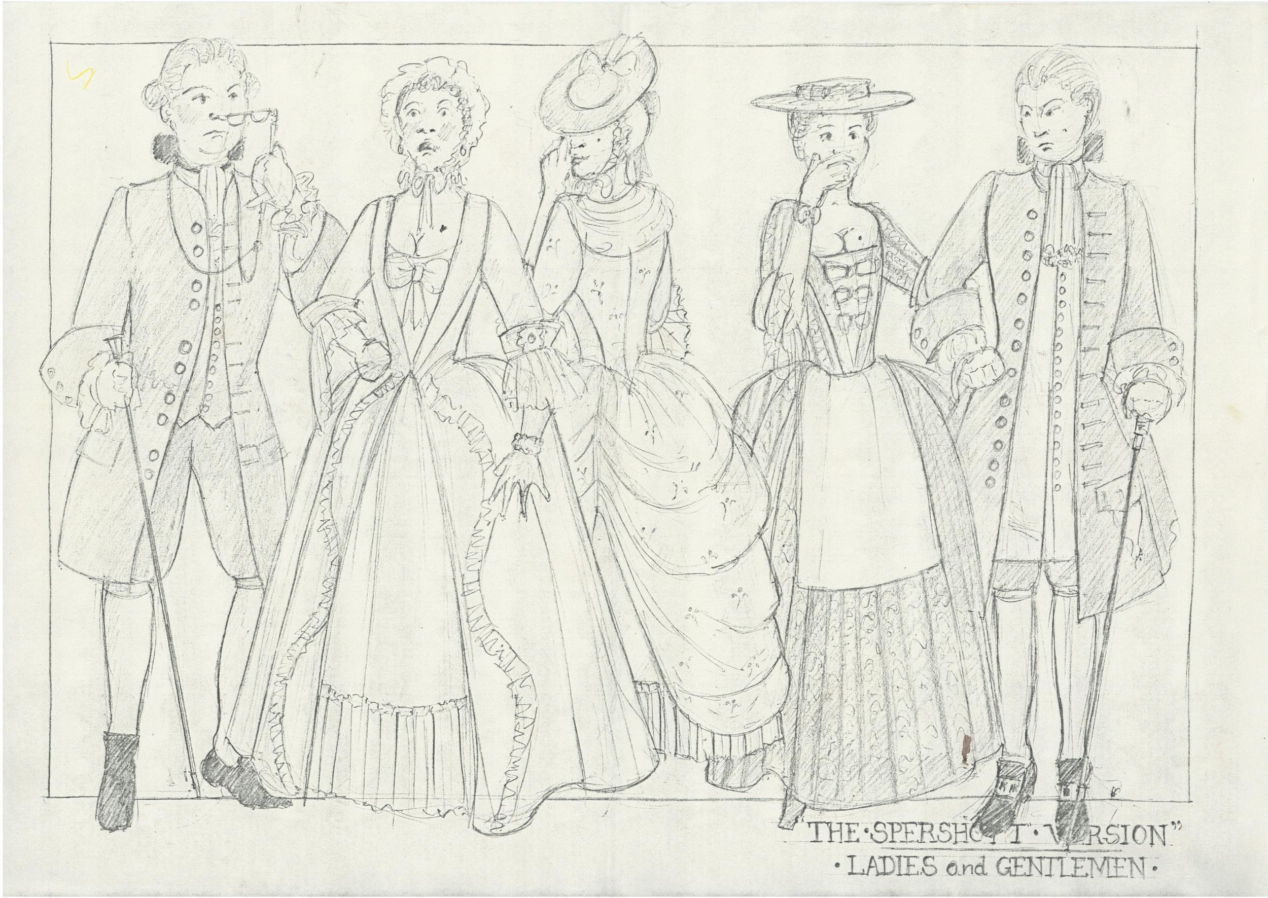 The Spershott Version 1986 Costume designs ladies & gentlemen