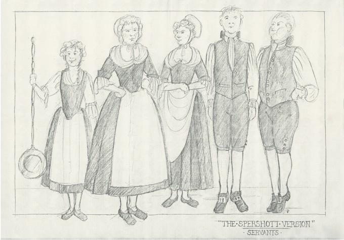 The Spershott Version 1986 Costume designs servents