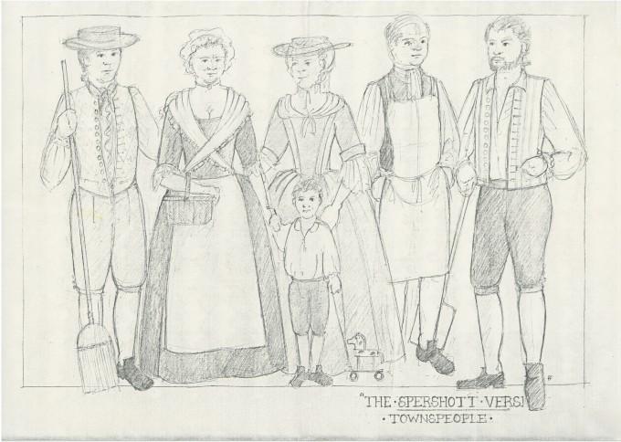 The Spershott Version 1986 Costume designs townspeople