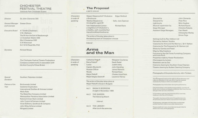 Cast List - The Arms and the Man. The Proposal - 1970 - 2 of 2