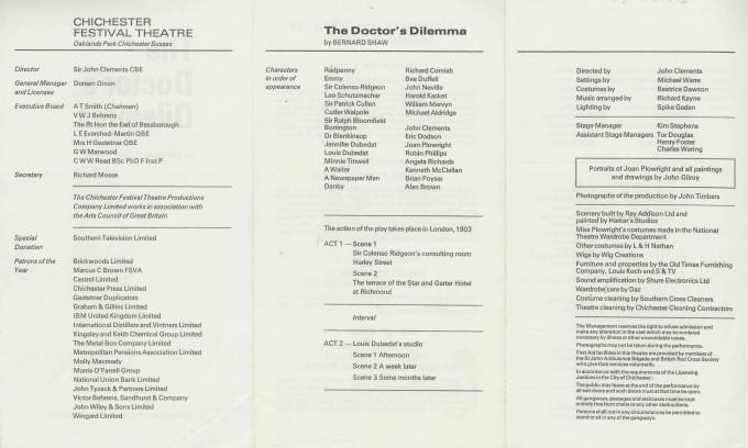 Cast List  - The Doctor's Dilemma  - 1972 - 2 of 2