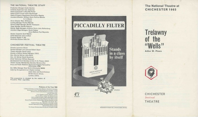 Cast List - Trelawny of the Wells - 1965 - 1 of 2