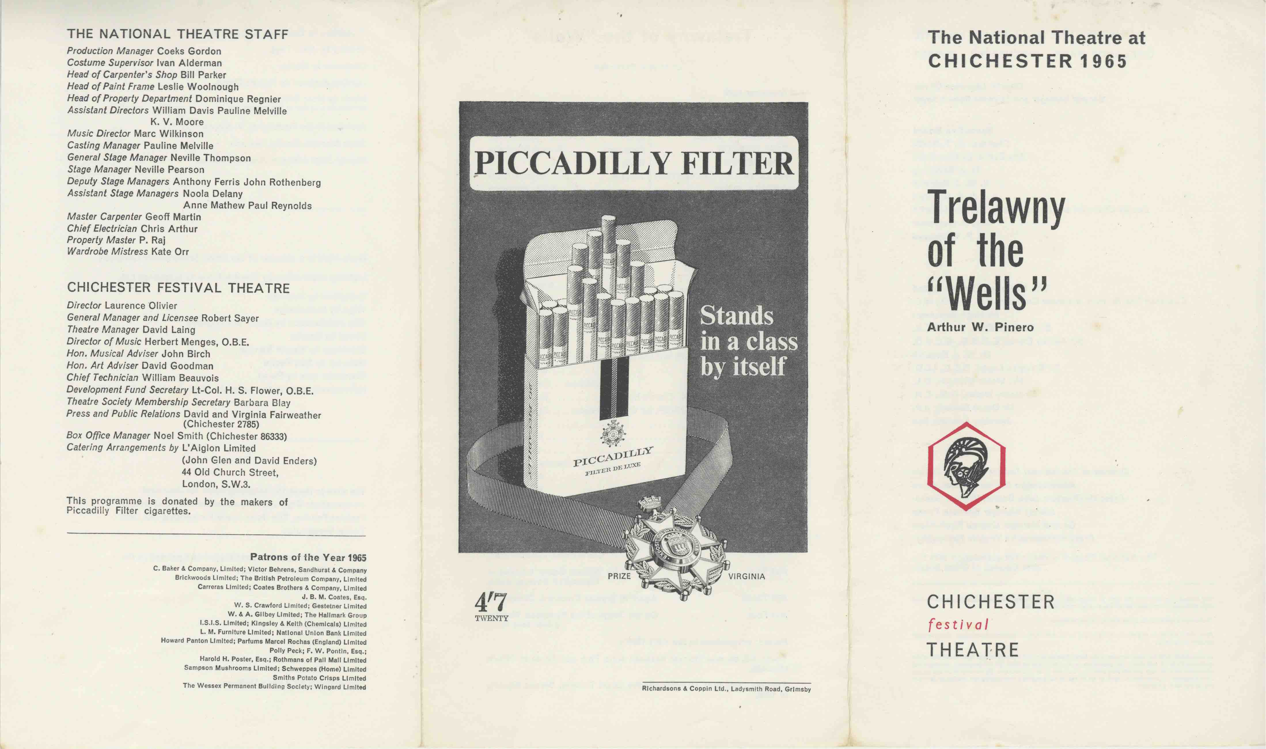 Cast List - Trelawny of the Wells - 1965 - 1 of 2